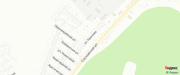 Улица Крылова на карте Уфы с номерами домов