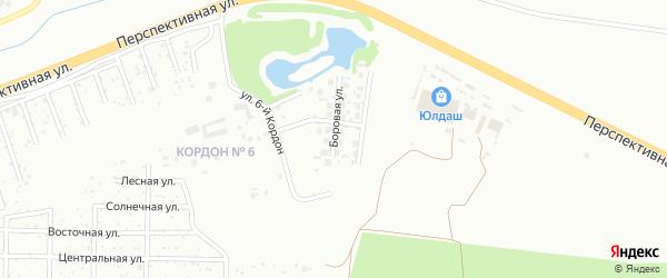 Боровая улица на карте Уфы с номерами домов