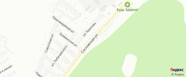 Сосновская улица на карте Уфы с номерами домов