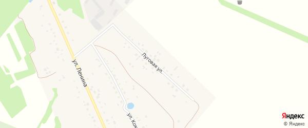 Луговая улица на карте деревни Константиновки с номерами домов