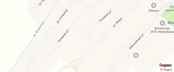 Полевая улица на карте села Ильина-Поляны с номерами домов