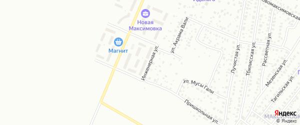 Инженерная улица на карте Уфы с номерами домов