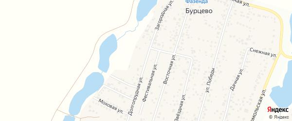 Загородная улица на карте деревни Бурцево с номерами домов