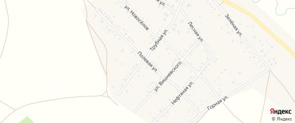 Полевая улица на карте села Кинзебулатово с номерами домов