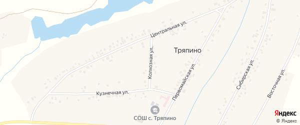 Колхозная улица на карте села Тряпино с номерами домов