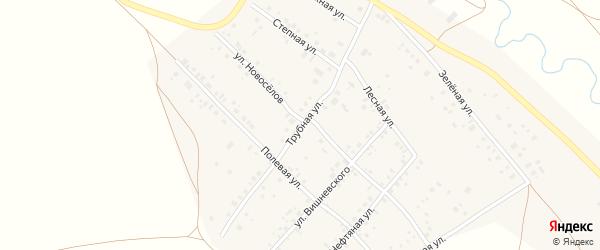 Трубная улица на карте села Кинзебулатово с номерами домов