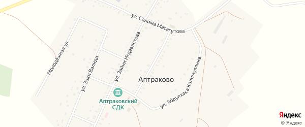 Улица Марса Бакирова на карте деревни Аптраково с номерами домов