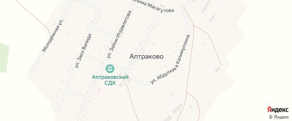Молодежная улица на карте деревни Аптраково с номерами домов
