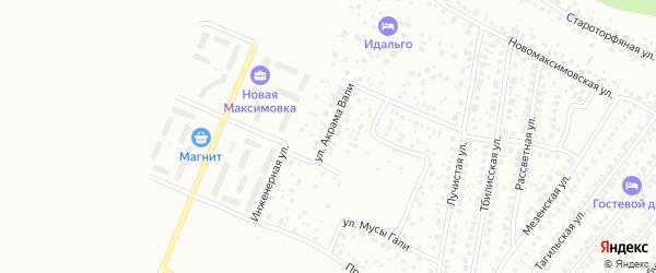 Улица Акрама Вали на карте Уфы с номерами домов