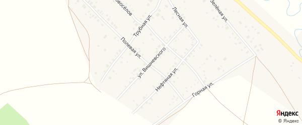 Улица Вишневского на карте села Кинзебулатово с номерами домов