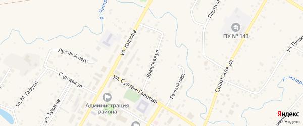 Яланская улица на карте села Кармаскалы с номерами домов
