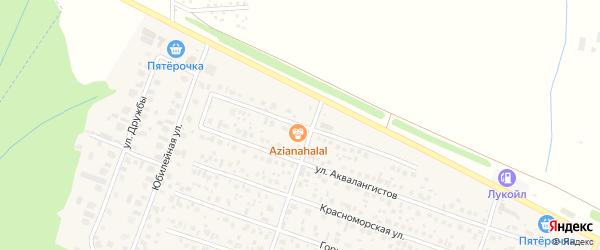 Улица Рами Гарипова на карте села Акбердино с номерами домов
