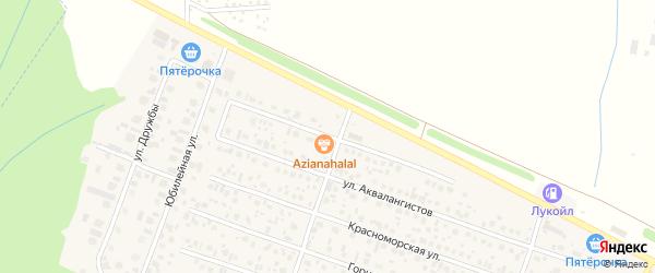 Улица Гарипова на карте села Акбердино с номерами домов