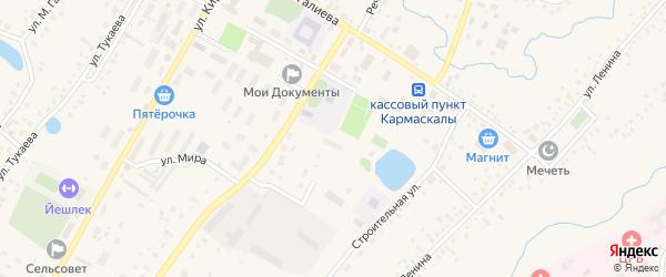 Переулок Ак-Куль на карте села Кармаскалы с номерами домов