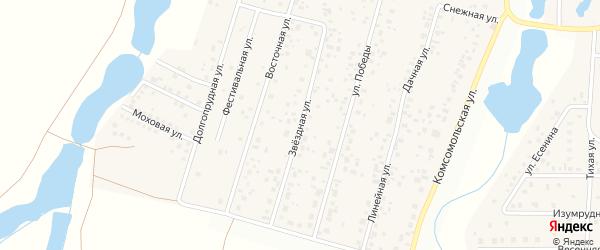 Звездная улица на карте деревни Бурцево с номерами домов