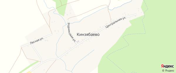 Лесная улица на карте деревни Кинзябаево с номерами домов