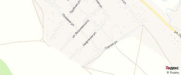Нефтяная улица на карте села Кинзебулатово с номерами домов