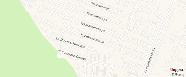 Кугарчинская улица на карте села Акбердино с номерами домов