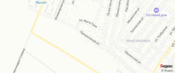 Пришкольная улица на карте Уфы с номерами домов
