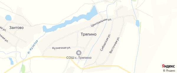 Карта села Тряпино в Башкортостане с улицами и номерами домов