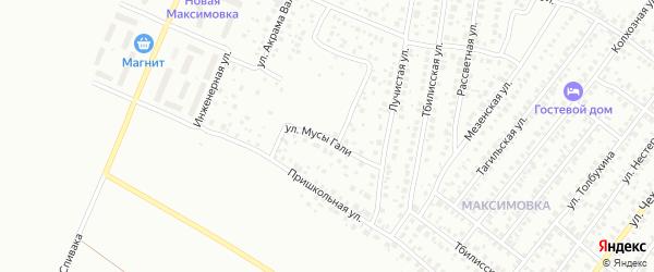 Улица Мусы Гали на карте Уфы с номерами домов