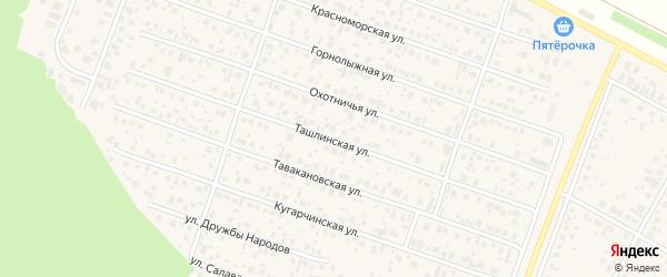 Ташлинская улица на карте села Акбердино с номерами домов