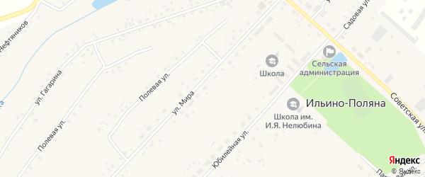 Юбилейная улица на карте села Ильина-Поляны с номерами домов