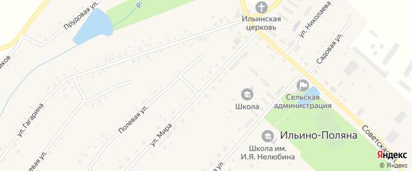 Улица Мира на карте села Ильина-Поляны с номерами домов