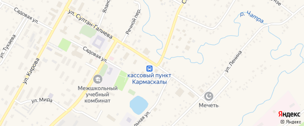 Улица Султан-Галиева на карте села Кармаскалы с номерами домов