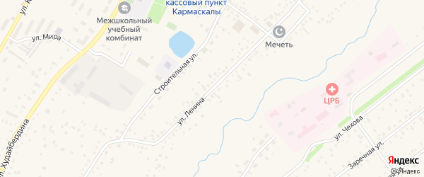 Улица Ленина на карте села Кармаскалы с номерами домов