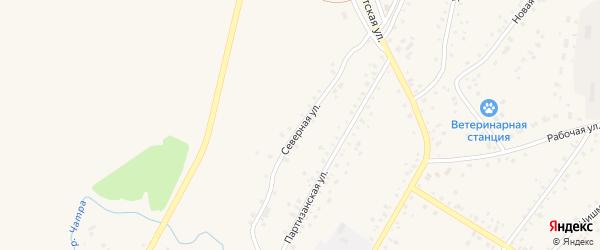 Северная улица на карте села Кармаскалы с номерами домов