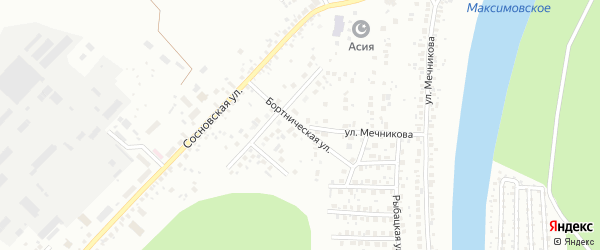 Бортническая улица на карте Уфы с номерами домов