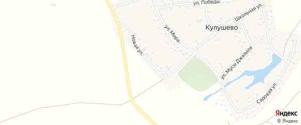Новая улица на карте деревни Кулушево с номерами домов