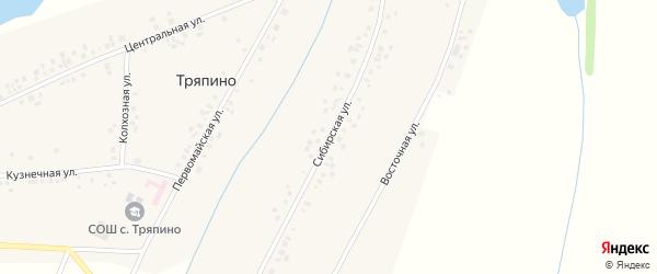 Сибирская улица на карте села Тряпино с номерами домов