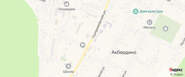 Газпромовская улица на карте села Акбердино с номерами домов