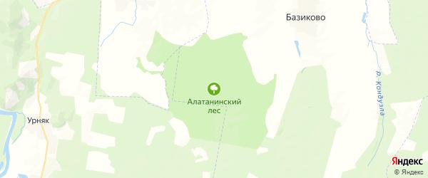 Карта Алатанинского сельсовета республики Башкортостан с районами, улицами и номерами домов