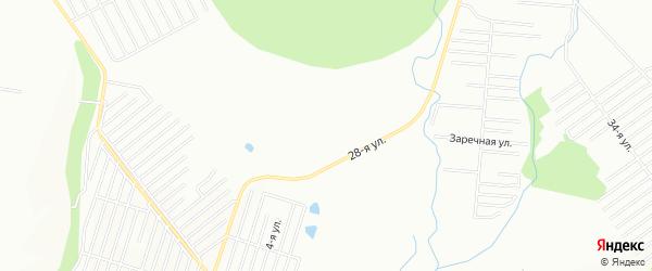 СНТ Надежда на карте Иглинского района с номерами домов