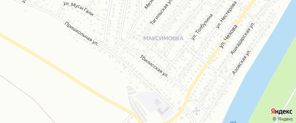 Тбилисская улица на карте Уфы с номерами домов