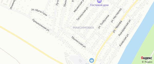Днестровская улица на карте Уфы с номерами домов