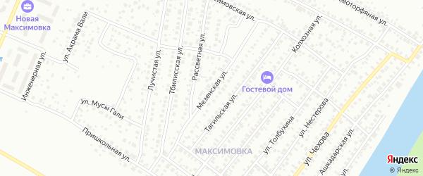 Мезенская улица на карте Уфы с номерами домов