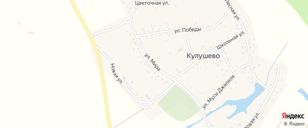 Улица Мира на карте деревни Кулушево с номерами домов