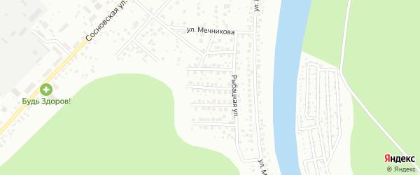 Удачный переулок на карте Уфы с номерами домов