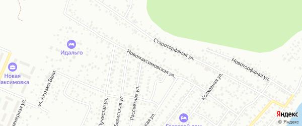 Новомаксимовская улица на карте Уфы с номерами домов