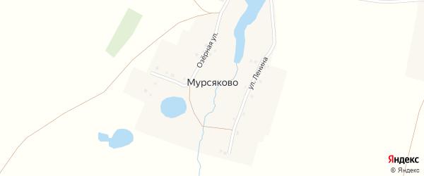 Озерная улица на карте деревни Мурсяково с номерами домов