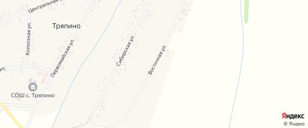 Восточная улица на карте села Тряпино с номерами домов