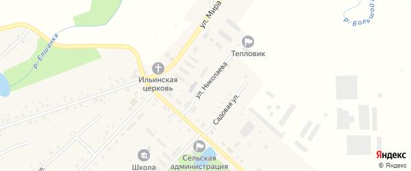Улица Николаева на карте села Ильина-Поляны с номерами домов