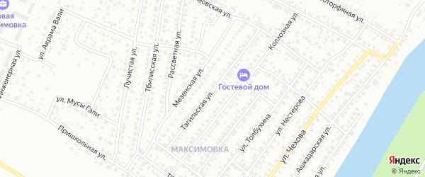 Тагильская улица на карте Уфы с номерами домов