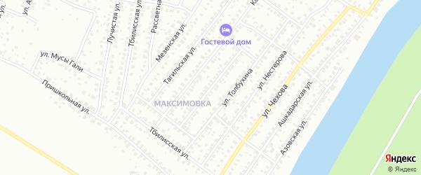 Черновицкая улица на карте Уфы с номерами домов
