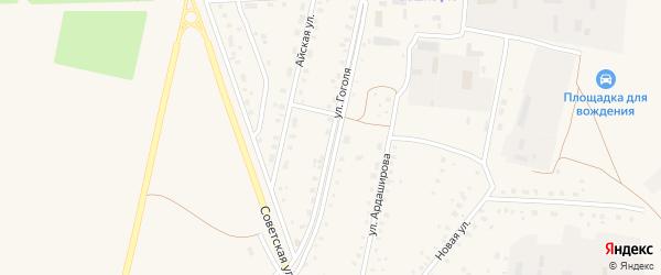 Улица Гоголя на карте села Кармаскалы с номерами домов