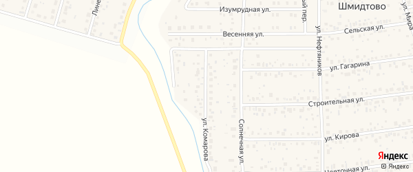 Улица Комарова на карте деревни Шмидтово с номерами домов
